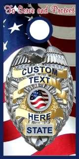 Custom Police Badge Cornhole game decal wrap style B
