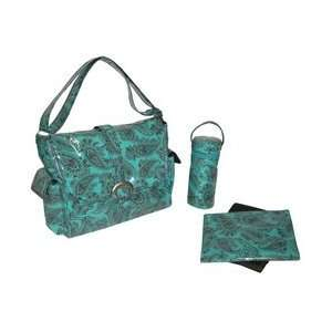 Laminated Buckle Bag   Peggy Paisley Turquoise Baby