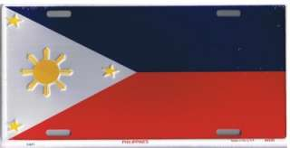 LICENSE TAG,AUTO PLATE,PHILIPPINES,PHILIPINO,FLAG,PLATE