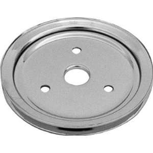 Chrome Steel Crankshaft Lower Pulley (SB Chevy 283 350 55 68 1 Groove)