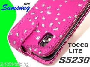 BLING LEATHER FLIP CASE COVER for SAMSUNG TOCCO LITE S5230