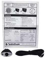 "ROCKFORD FOSGATE R300 12"" ACTIVE SUBWOOFER+BOX+AMP KIT 613815565246"