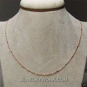 16Inch Solid 18KT Rose Gold Chain Necklace