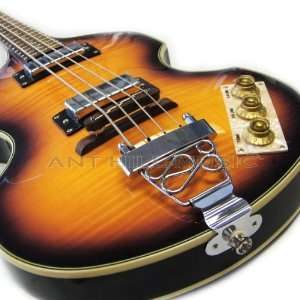 Flame Maple Top Viola Violin Beatle Bass Guitar Musical Instruments