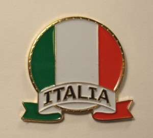 ITALIA Italy COUNTRY FLAG Travel Souvenir LAPEL PIN