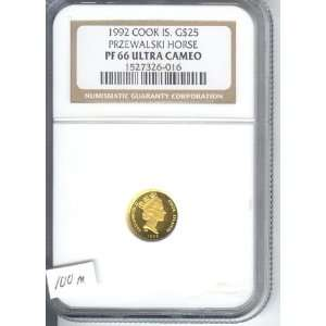 ,GOLD HORSE , ENDANGERED SPECIES ,COIN, CERTIFIED PF 66 ULTRA CAMEO