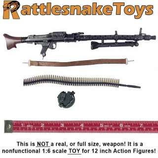 MG34 Gunner   MG34 Machine Gun Set  1/6 Scale   Toys City
