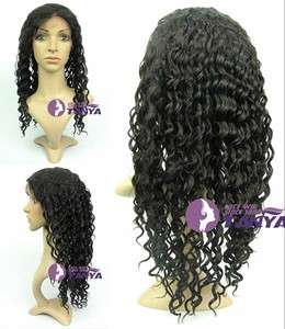 18 100% India Remy Human Hair Lace Wig Wigs Deep Wave