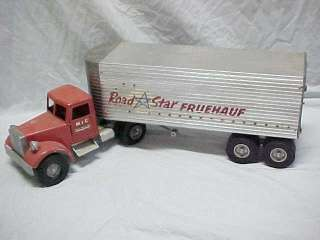 MIC Road Star Fruehauf Tractor Trailer Semi Truck 1950s Vintage