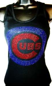 Chicago Cubs Bling Womens Tank Top ALL Colors/Sizes