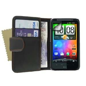 Brand new black premium leather wallet flip case cover for