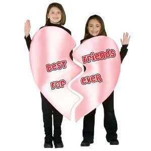 Best Friends Forever Heart Child Costume   7 10   Kids