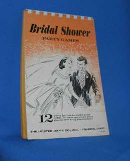 VTG UNUSED 1970S BRIDAL SHOWER PARTY GAMES BOOK/PAD, INCLUDES 12
