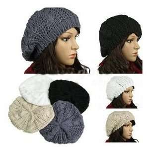 Beanie   Skull Cap   Hat   Knit Crochet   Black  Toys & Games
