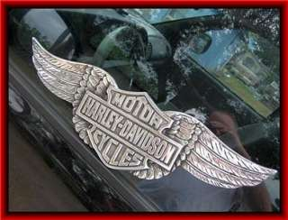HARLEY DAVIDSON 13 3/4 Motor Cycle Wall Emblem Sign