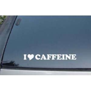 I Love Caffeine Vinyl Decal Stickers