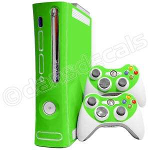 LIME GREEN SKIN for Xbox 360 system faceplate mod kit
