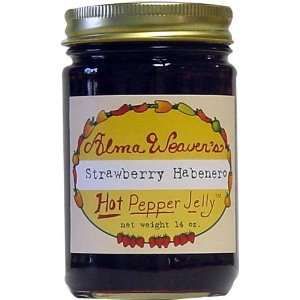 Habanero Hot Pepper Jelly, 14 oz  Grocery & Gourmet Food