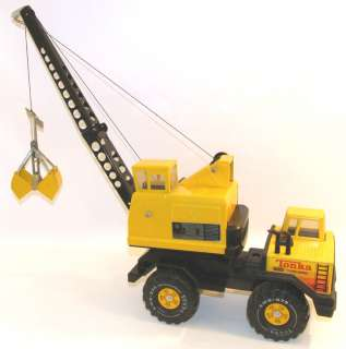 vtg TONKA Pressed Steel Mobile Crane Truck XMB 975 Turbo Diesel Clam