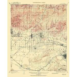 USGS TOPO MAP POMONA QUAD CALIFORNIA (CA) 1953
