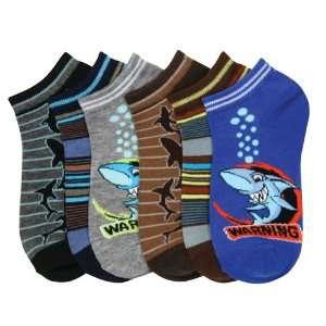 HS Boys Fashion Ankle Socks Sharks Design (size 6 8) 6