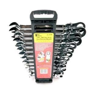 T & E Tools 13Pc. SAE Flex Head Gear Ratchet Wrench Set