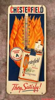 Vintage CHESTERFIELD KING CIGARETTES Advertising Tin Sign Ad