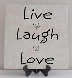 Vinyl Lettering Tile Quote Decal LIVE LAUGH LOVE