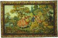 Italian Wall Tapestry Romantic Scene Fountain Minuetto