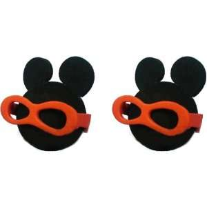 Black Mickey Classic Silhouette w/ Shades Car Truck SUV Antenna Topper