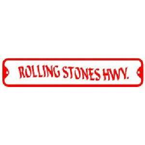 ROLLING STONES HWY. sign street rock music Home & Kitchen