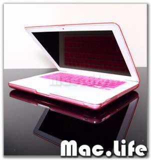 PINK Crystal Hard Case Cover for NEW Macbook 13 White