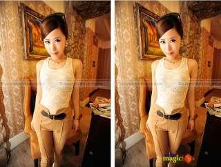 Lady Trendy Vintage High Waist Slim Fit Pencil Leggings Pants Trousers