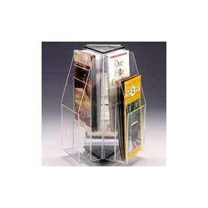6 Brochure Rotating Clear Table Top Display