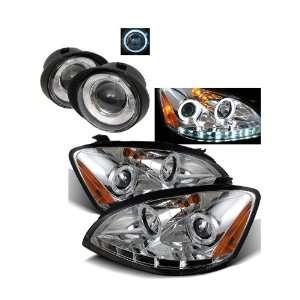 Nissan Altima Chrome LED Halo Projector Headlights + Fog Lights Combo