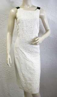 770 BCBG MAX AZRIA WHITE SLEEVELESS DRESS NWT M