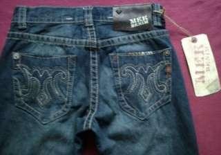NWT Mek Denim Mens CODY Straight Blue Jeans MEK Embroidered Pockets