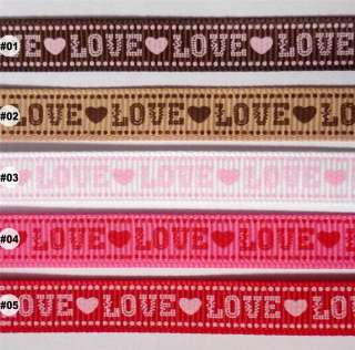 mixed love valentine Grosgrain RIBBON lot 5 yards