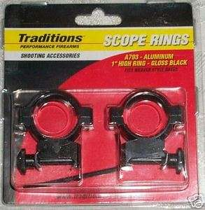 inch, 1,Scope Rings, High Ring, Gloss Black A793