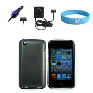 iPod Touch 4G + Car Charger with Blue LED + Cellet Brand Wall Charger