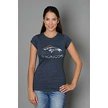 5th and Ocean Denver Broncos Womens Plus Size Short Sleeve Triblend T