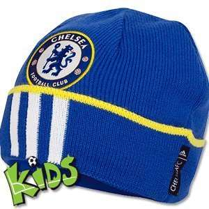 11 12 Chelsea 3 Stripe Woolie Hat   Royal   Boys