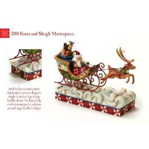 Enesco Jim Shore Santa Sleigh: Patio, Lawn & Garden
