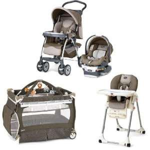 Chicco Chevron Kit Matching Stroller System High Chair and