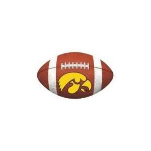 MAGNET C IOWA HAWKEYE LOGO ON FOOTBALL   10 x 6.3
