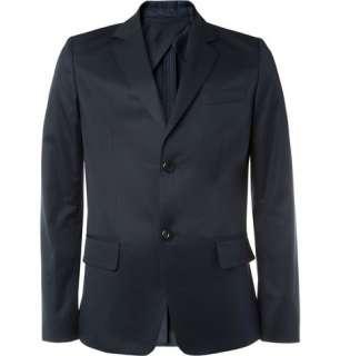 Blazers  Single breasted  Slim Fit Cotton Twill Blazer