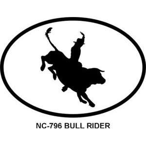 Bull Rider Oval Bumper Sticker