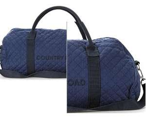 Country Road Tote Bag Overnight Duffle NAVY Quilted Tote 076 BN