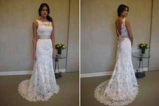 New custom white ivory Lace Wedding Dress Bride gown 2.4.6.8.10.12.14