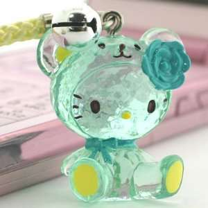 Sanrio Hello Kitty Crystal Bear Netsuke Cell Phone Strap
